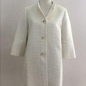 Ann Taylor ivory woven coat